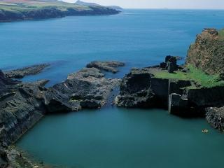 Blue Lagoon at Abereiddi