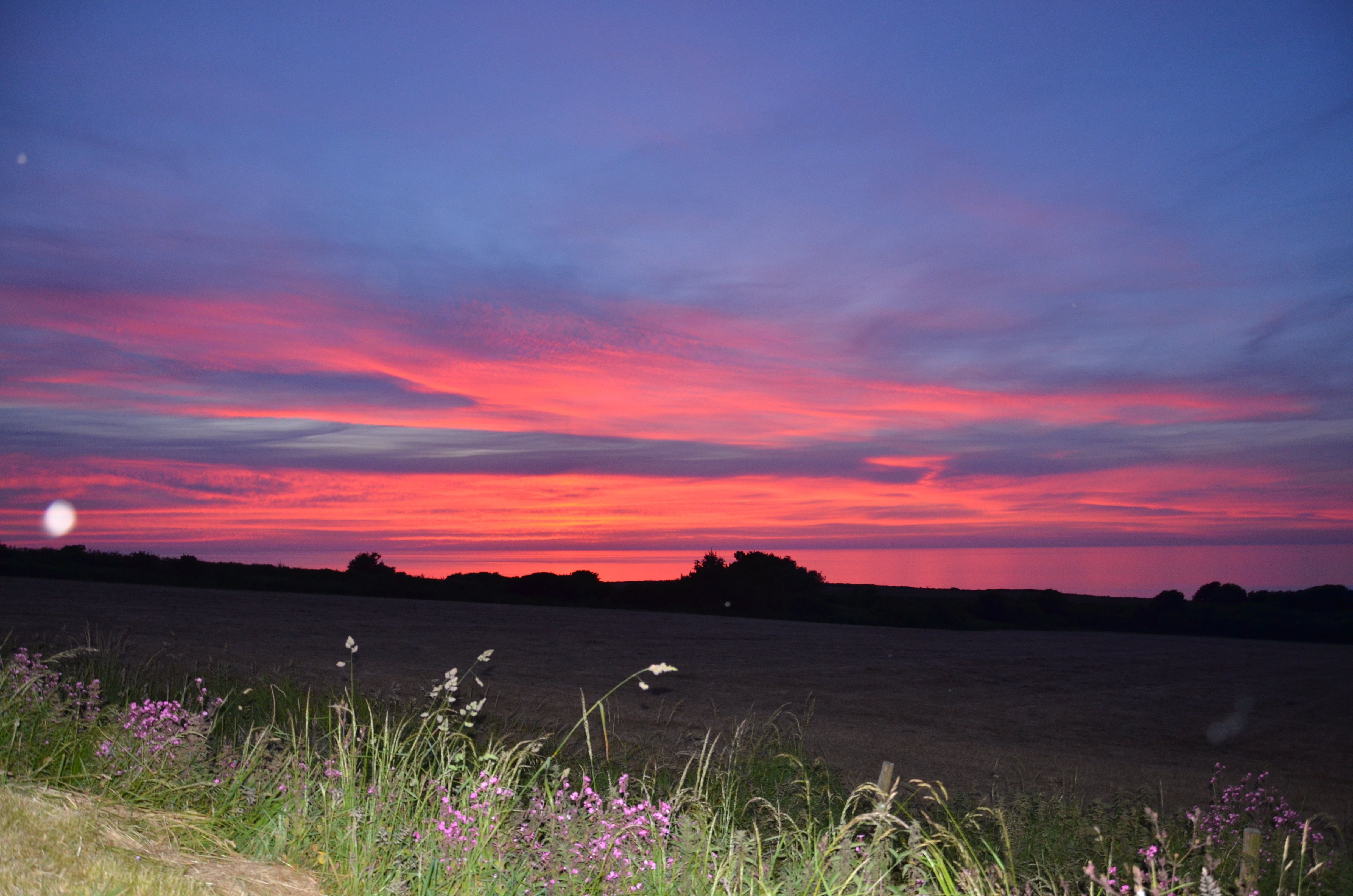 Fabulous sunsets over North Pembrokeshire coast from Yr Hafan 5* luxury holiday cottages