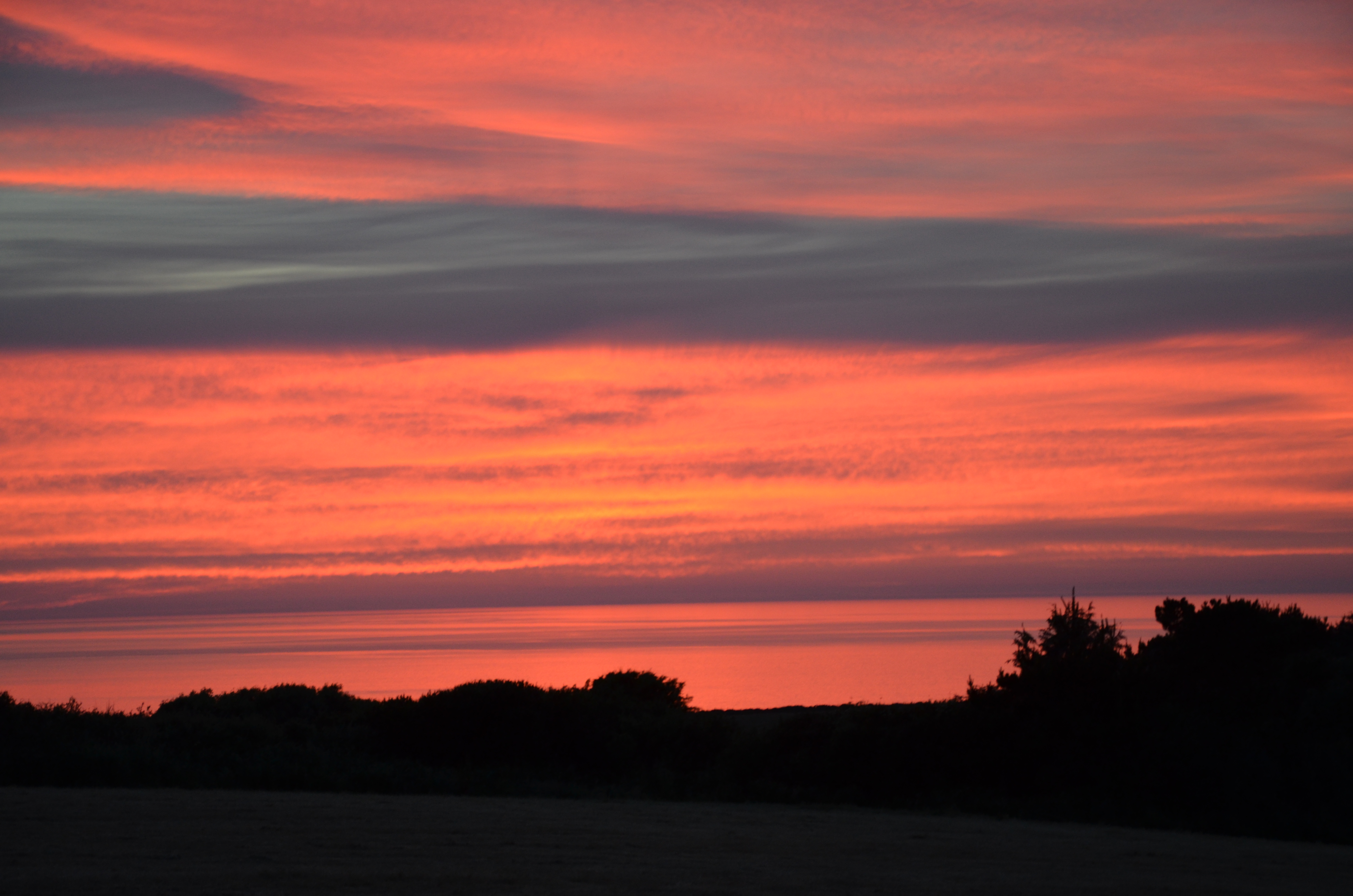 Fabulous sunsets over North Pembrokshire coast from Yr Hafan luxury holiday cottages