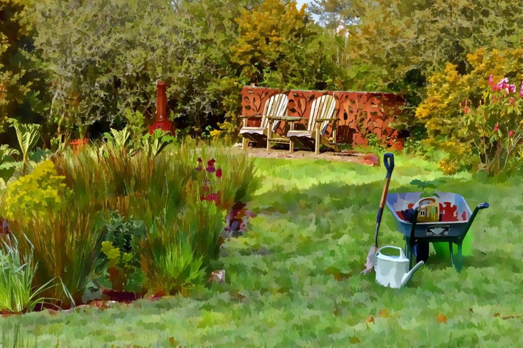 Gardener's Teabreak at Yr Hafan