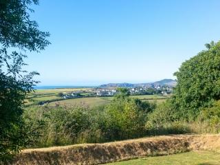 Yr Hafan landscaped gardens and sea views towards Struble Head