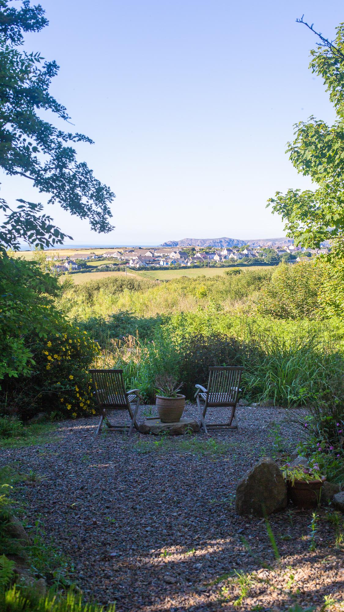 Yr Hafan landscaped gardens and coastal views towards Trefin