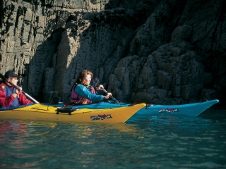 Canoeing around the stunning bays of beautiful North Pembrokeshire