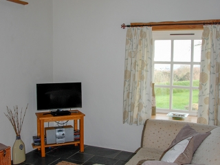 Pencaer Self Catering Cottage Lounge/ Diner with sea views