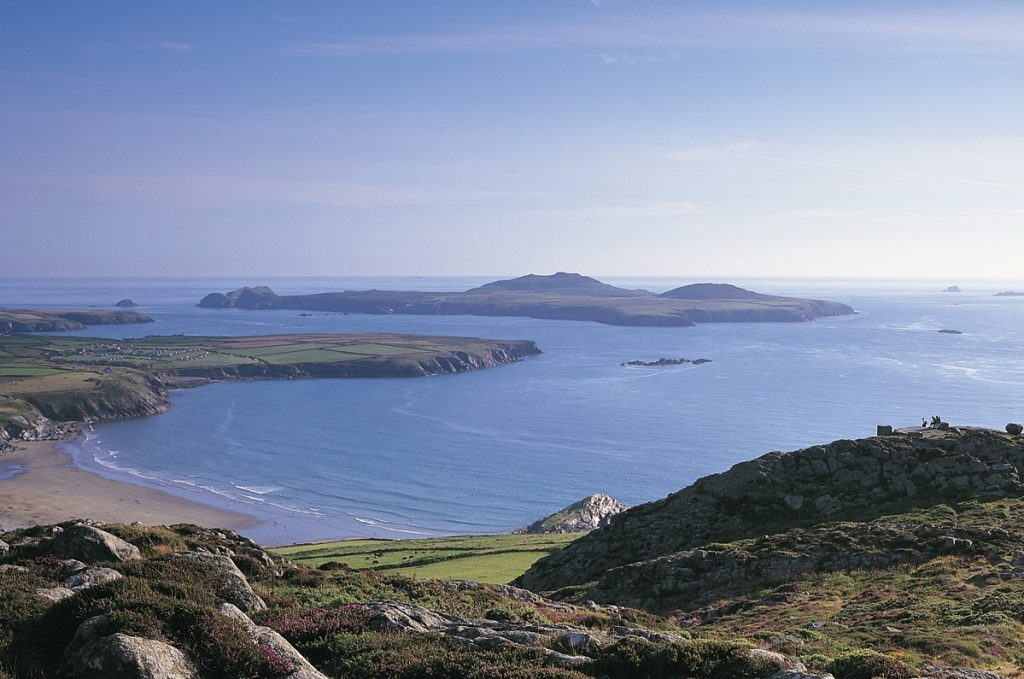 Whitesands Bay and Ramsey Island St Davids Pembrokeshire Coasts