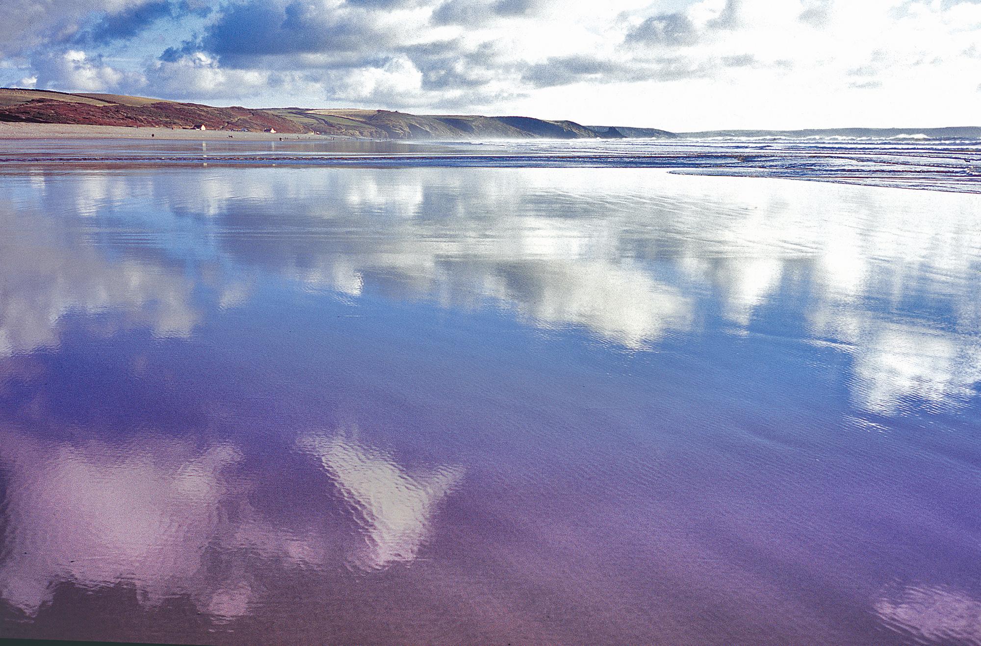 Winter Newgale beach